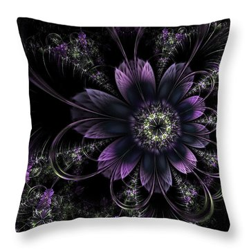 Midnight Mistletoe Throw Pillow