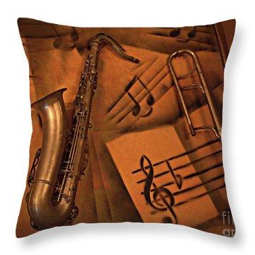 Midnight Music Throw Pillow