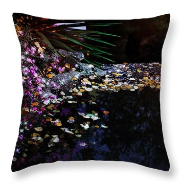 Midnight Oasis Throw Pillow