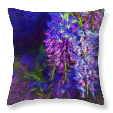 Throw Pillow featuring the photograph Midnight Oil By Kaye Menner by Kaye Menner