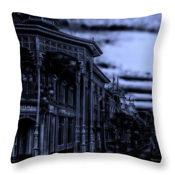 Midnight On Main Street Disney World Mp Throw Pillow