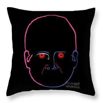 Throw Pillow featuring the painting Midnight Rage by Marian Cates