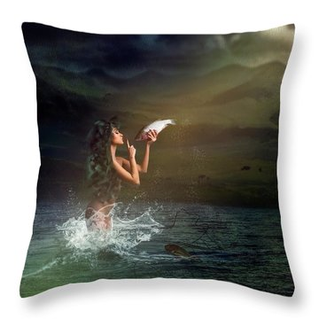 Midnight Release Throw Pillow
