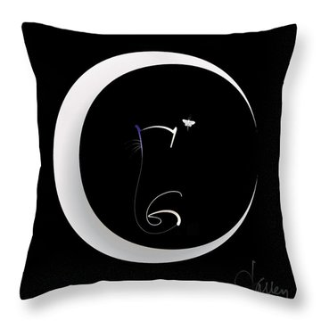 Throw Pillow featuring the mixed media Moonlight Rendezvous 2 by Larry Talley