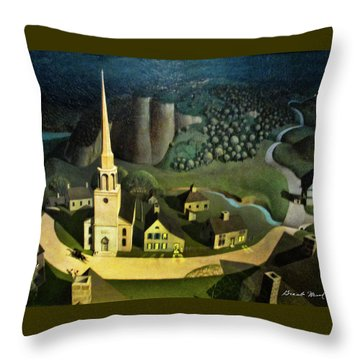 Midnight Ride Of Paul Revere Throw Pillow