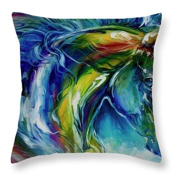 Midnight Run Equine Throw Pillow