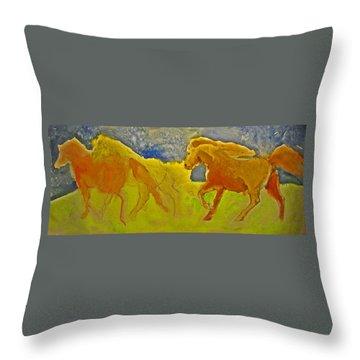 Midnight Run Throw Pillow by Linda Kay Thomas