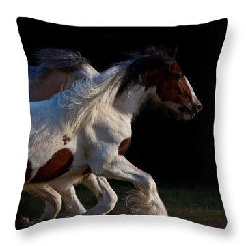 Throw Pillow featuring the photograph Midnight Run by Sharon Jones