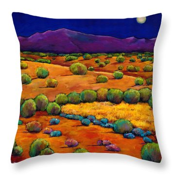 Midnight Sagebrush Throw Pillow