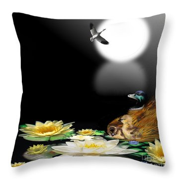 Midnight Serenity Throw Pillow