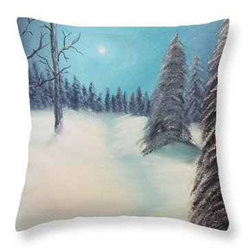 Midnight Silence Throw Pillow