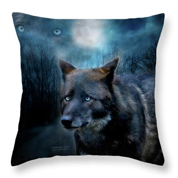 Midnight Spirit Throw Pillow by Carol Cavalaris