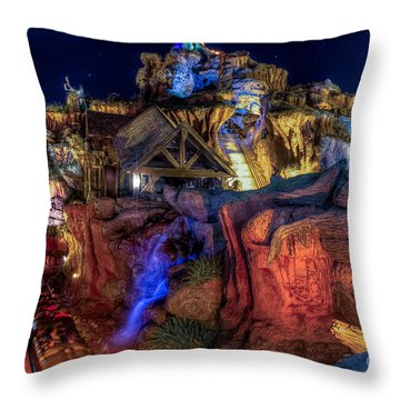 Midnight Splash Throw Pillow