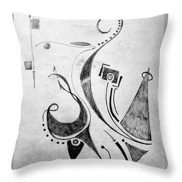 Midnight Study 1 Throw Pillow