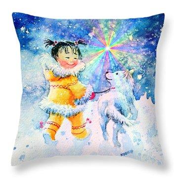 Midnight Sun Friends Throw Pillow