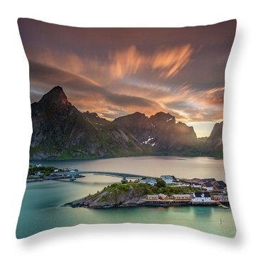 Midnight Sun Galore Throw Pillow