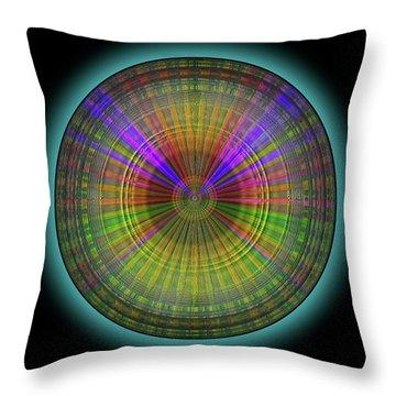 Throw Pillow featuring the digital art Midnight Sunset by Visual Artist Frank Bonilla
