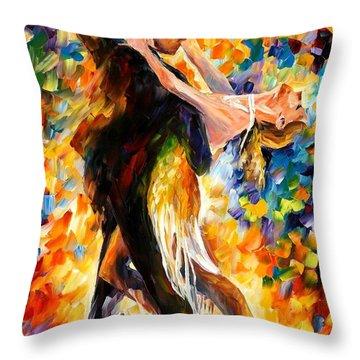 Midnight Tango Throw Pillow