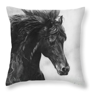 Midnight Thunder Throw Pillow