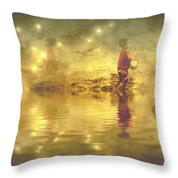 Midnight Treasure I Throw Pillow