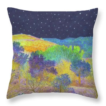 Midnight Trees Dream Throw Pillow