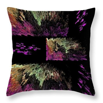 Throw Pillow featuring the digital art Midnight Velvet Aabstract by Sherri  Of Palm Springs