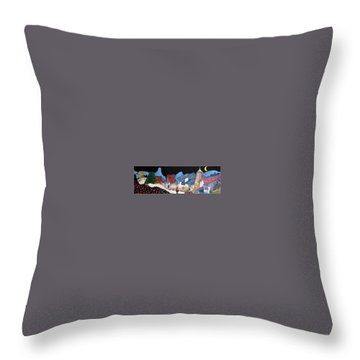 Midnight Walk In Peru Throw Pillow