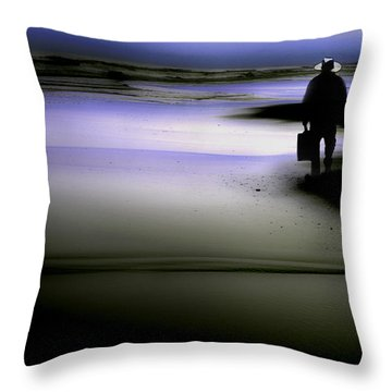 Throw Pillow featuring the photograph Midnight Wanderer by Gray  Artus