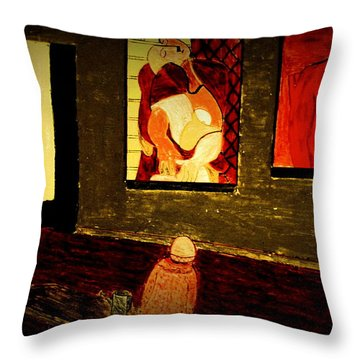 Midnight With Pablo Throw Pillow