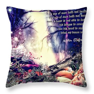 Midsummer Night Dream Throw Pillow by Mo T
