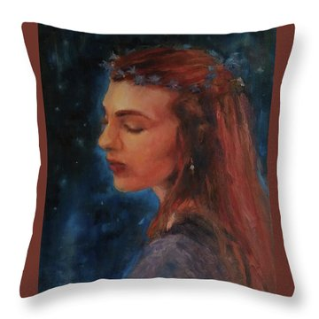 Midsummer Night Fairy Throw Pillow by Brian Kardell