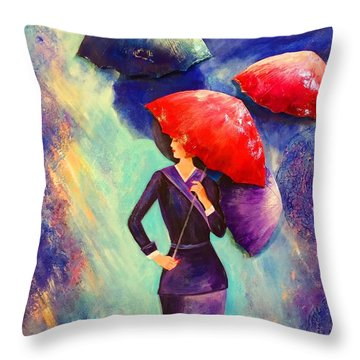 The Purple Lady Throw Pillow