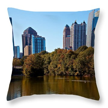 Midtown In The Fall Throw Pillow