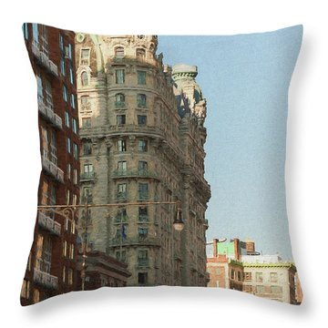 Midtown Manhattan Apartments Throw Pillow