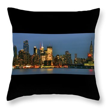 Midtown Manhattan Throw Pillow by Zawhaus Photography