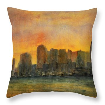 Midtown Morning Throw Pillow