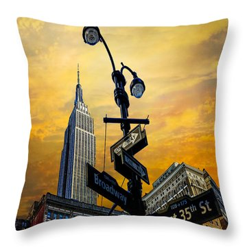 Throw Pillow featuring the photograph Midtown Sunset by Chris Lord
