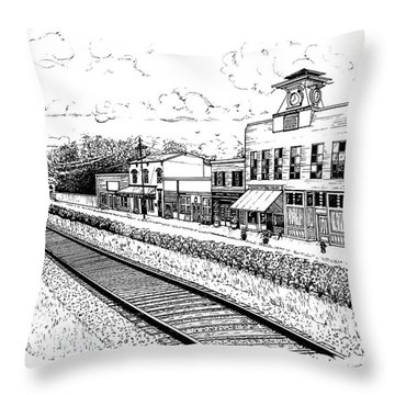 Midway Kentucky Throw Pillow