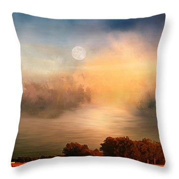 Midwest Harvest Moon Throw Pillow
