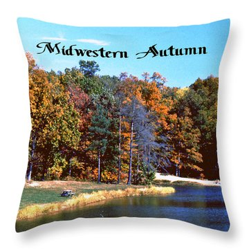 Midwestern Autumn Throw Pillow by Gary Wonning