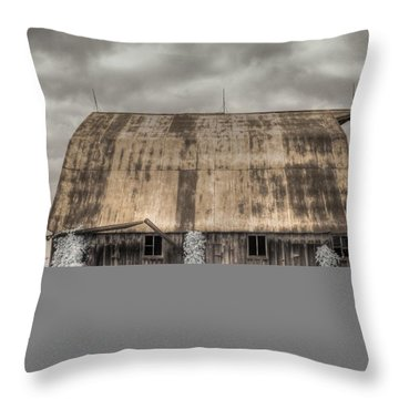 Midwestern Barn Throw Pillow