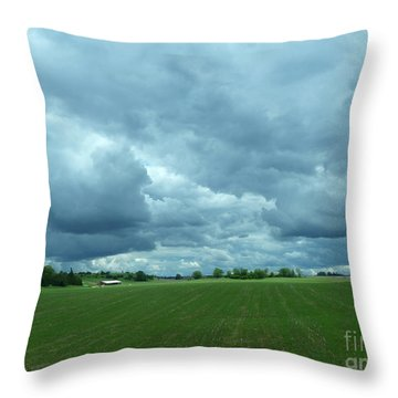 Midwestern Sky Throw Pillow