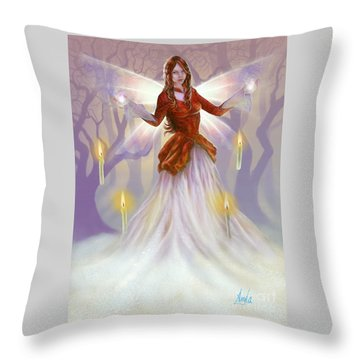 Midwinter Blessings Throw Pillow by Amyla Silverflame