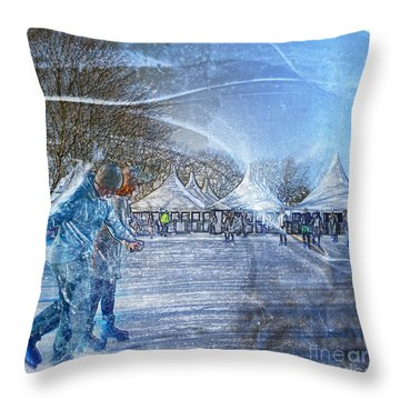 Midwinter Blues Throw Pillow