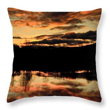 Midwinter Sunrise Throw Pillow by Albert Seger