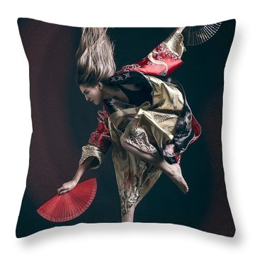 Miegakure - The Fight #6 Throw Pillow