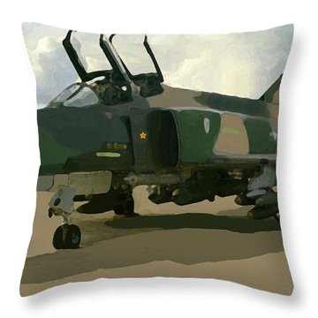 Mig Killer Throw Pillow by Walter Chamberlain