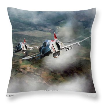 Throw Pillow featuring the digital art Migcap Duty - Phu Ly by Peter Chilelli