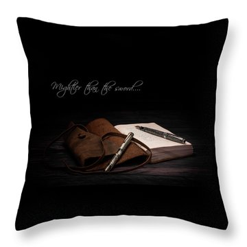 Mightier Than The Sword Throw Pillow