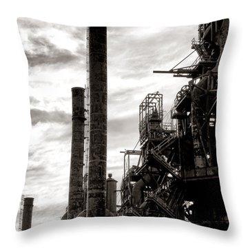 Mighty Bethlehem Steel Throw Pillow